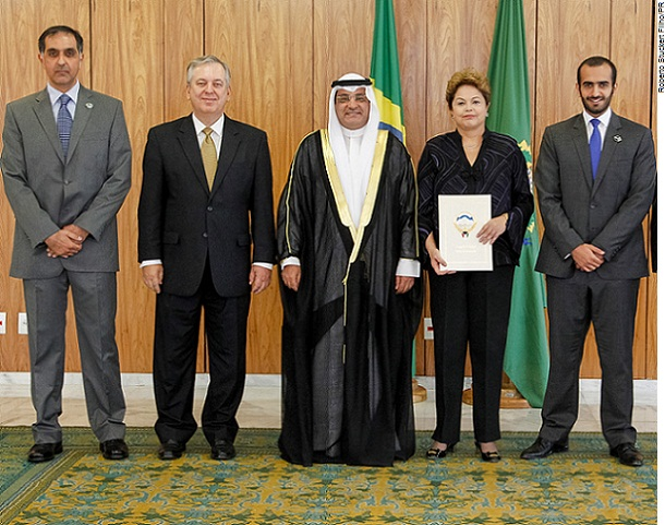 Dilma Rousseff e Embaixador do Kuwait, Ayadah M. Alsaidi