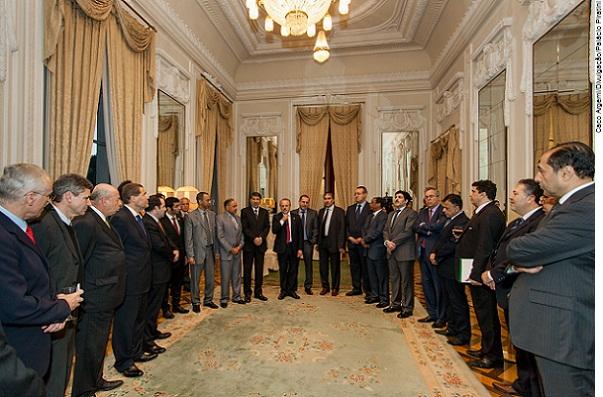 Governador Tarso Genro recebe o Conselho dos Embaixadores Árabes no Brasil no Palácio Piratini