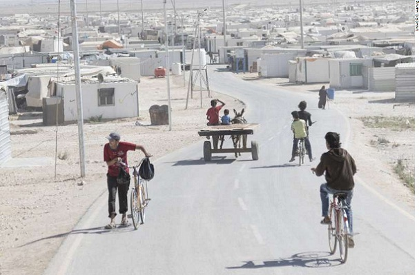 Za'atari Refugee Camp in Jordan