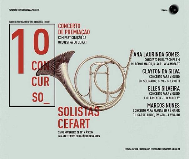 Concerto de Premiação do 1º Concurso Solistas Cefart